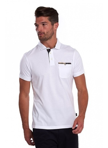 Barbour Corpatch Polo Yaka Wh11 White Beyaz